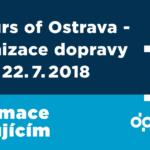 COLOURS OF OSTRAVA 2018 – organizace dopravy