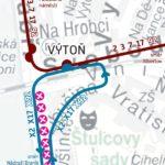 Výtoň – Sídliště Modřany: krátkodobé přerušení provozu tramvají II