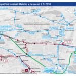 Změny autobusových linek v oblasti Malešic a okolí