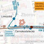 Obratiště Černokostelecká: dočasné přerušení provozu tramvají
