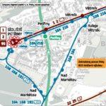 Dočasná změna trasy a zastávek pro linky číslo 108, 164, 168, 191, 216 a 910