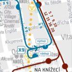 Anděl – Sídliště Řepy: krátkodobé přerušení provozu tramvají