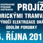 Výročí elektrizace dráhy údolím Porubky