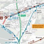 Dočasná změna trasy a zastávek pro linky číslo 108, 168, 191, 216, 260 a 910