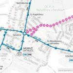 Dočasná změna trasy a zastávek pro linky číslo 201 a 376