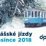 Okružní jízdy historickou tramvají s čertem a Mikulášem