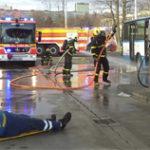 DPO spolupracuje s hasiči při požárních cvičeních