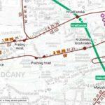 Badeniho ulice: dočasné přerušení provozu tramvají