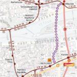 Vltavská – Těšnov: dočasné přerušení provozu tramvají