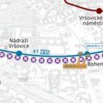 Otakarova – Koh-i-noor: dočasné přerušení provozu tramvají