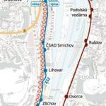 Smíchovské nádraží – Hlubočepy: dočasné přerušení provozu tramvají
