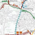 Staroměstská – Národní divadlo: dočasné přerušení provozu tramvají