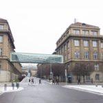 Nová lávka propojí budovy Vysoké školy chemicko-technologické vPraze 6