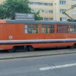 Tramvaj pro kontrolu troleje v Praze