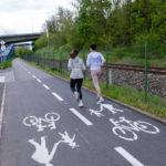 Cyklisté mohou opět využívat opravený úsek cyklostezky A2 ve Zbraslavi