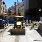 Oprava mostu komplikuje dopravu na Národní ulici vcentru Prahy
