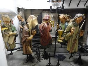 apoštolové orloje jsou vidět z radniční kaple