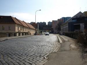 Povrch vozovky, Michelská ulice , 18.3.2012