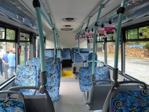 interiér elektrobusu SOR EBN 9,5